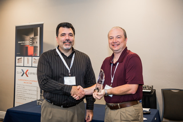Photo left to right: Paul Dalia, P.E., Chair, CFSEI Executive Committee; Robert Warr, P.E., Frameworks Engineering