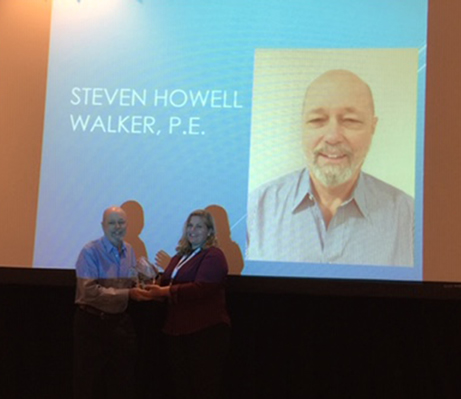 Photo: Steve Walker, P.E.; Julie Lowrey, P.E., CFSEI Executive Committee Chair (2019-2020)