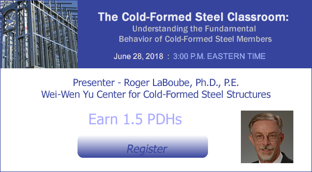 THE COLD-FORMED STEEL CLASSROOM WEBINAR